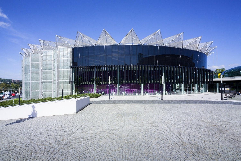 Projekt stavby kongresového centra Zlín podle návrhu Evy Jiřičné