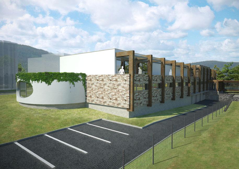 Projekt wellnes aquaparku Jeseník navrhla společnost CENTROPROJEKT