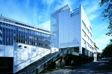 Projekt administrativní budovy Moravskoslezské kooperativy ve Zlíně projektovala společnost Centroprojekt