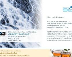 Pozvánka na veletrh Vodovody - Kanalizace, kde bude hyperboloidní míchadla prezentovat CENTROPROJEKT