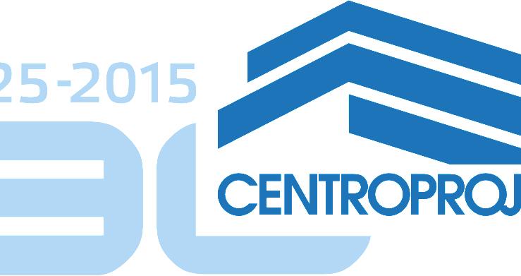 Varianta loga k výročí 90 let historie Centroprojektu