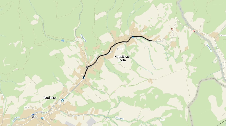 Rekonstrukci silnice III/50736 v Nedašově Lhotě připravil zlínský Centroprojekt