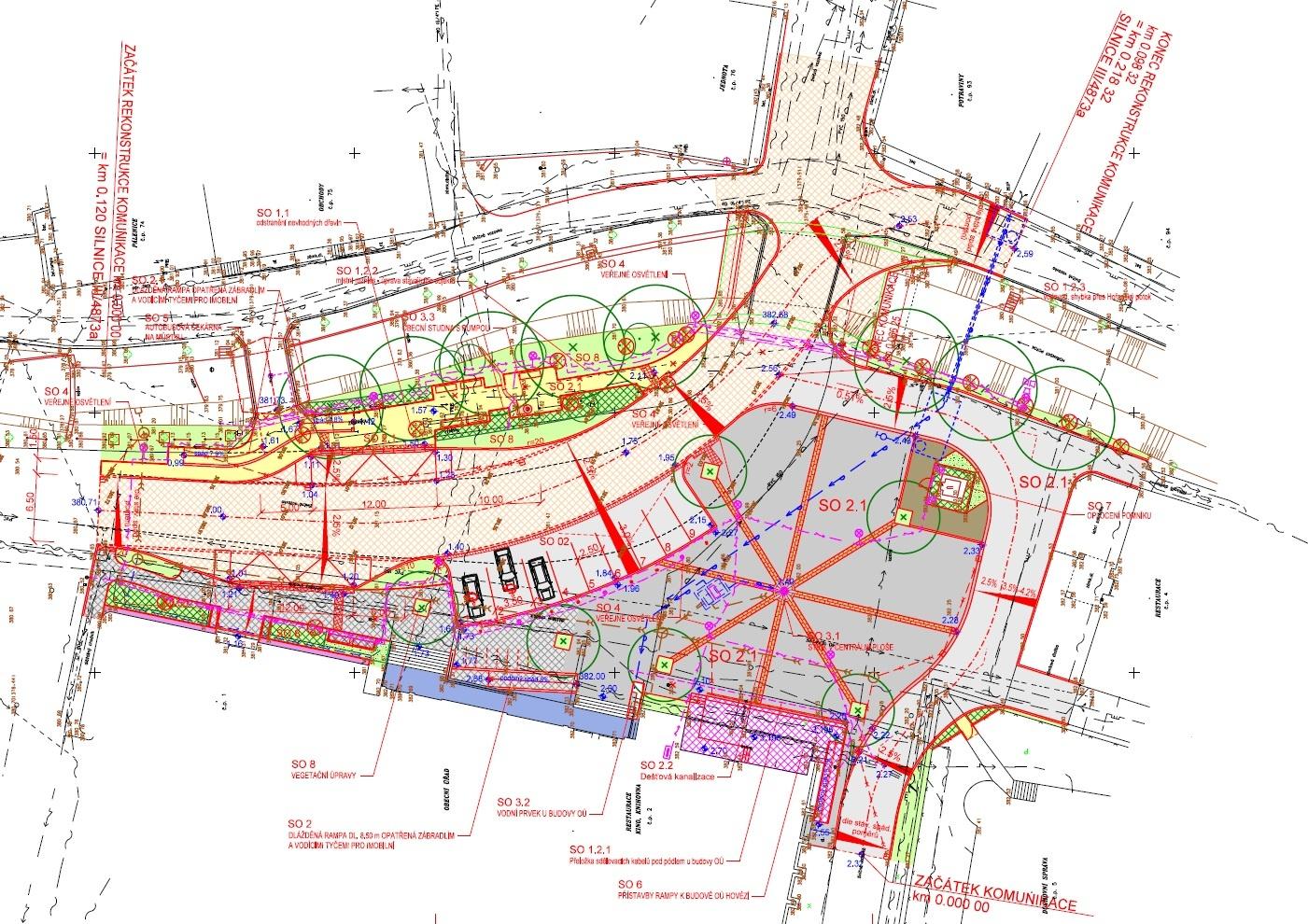 Regenerace náměstí v obci Hovězí připravila projekční kancelář CENTROPROJEKT GROUP