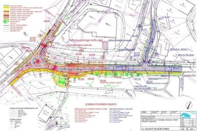 Projekt rekonstrukce křižovatky Zlín - K Pasekám - Pasecká - Stráže - Klabalská připravila projekční kancelář CENTROPROJEKT