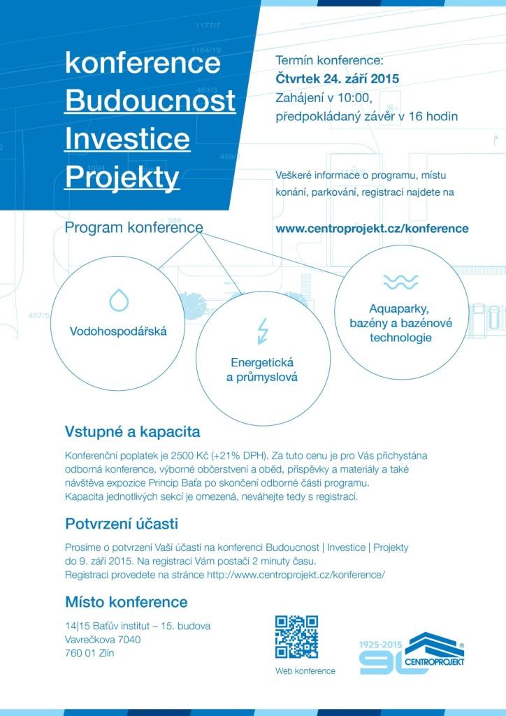Program konference Budoucnost | Investice | Projekty