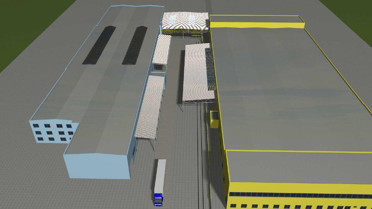 Studii zastřešení mezi průmyslovými objekty firmy Andritz Kufferath realizoval zlínský Centroprojekt