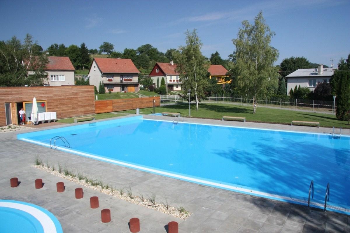 Rekonstrukce koupaliště v Sazovicích