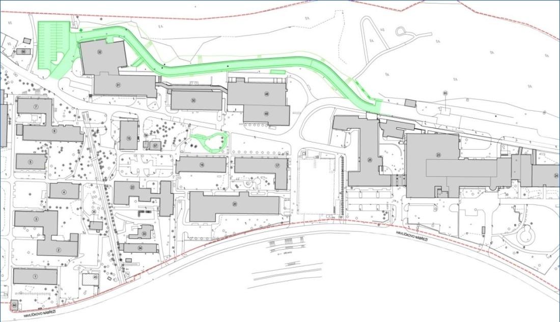 Projekt obchvatu v areálu nemocnice ve Zlíně připravila projektová kancelář Centroprojekt