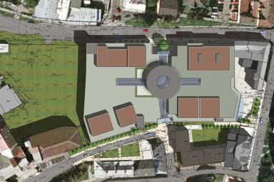 Projekt nákupního centra Plaza v Opavě