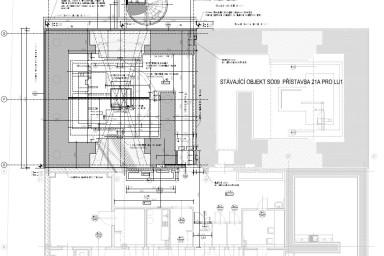 Přístavba nemocniční budovy pro lineární urychlovač podle projektu Centroprojektu