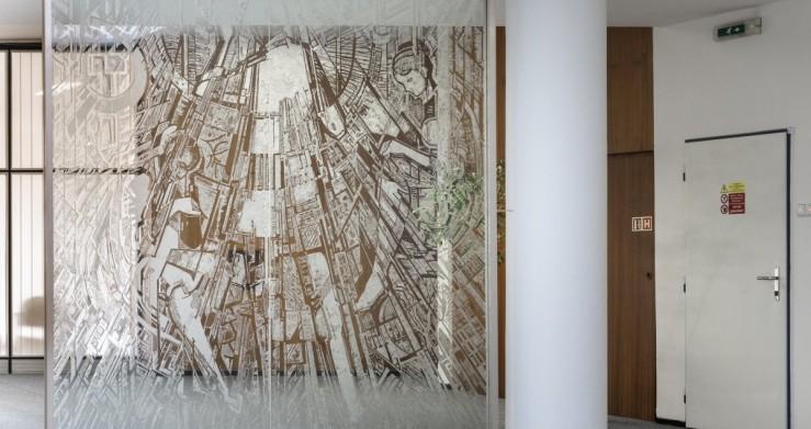 Umělecká díla v prostorách projektové kanceláře Centroprojekt ve Zlíně