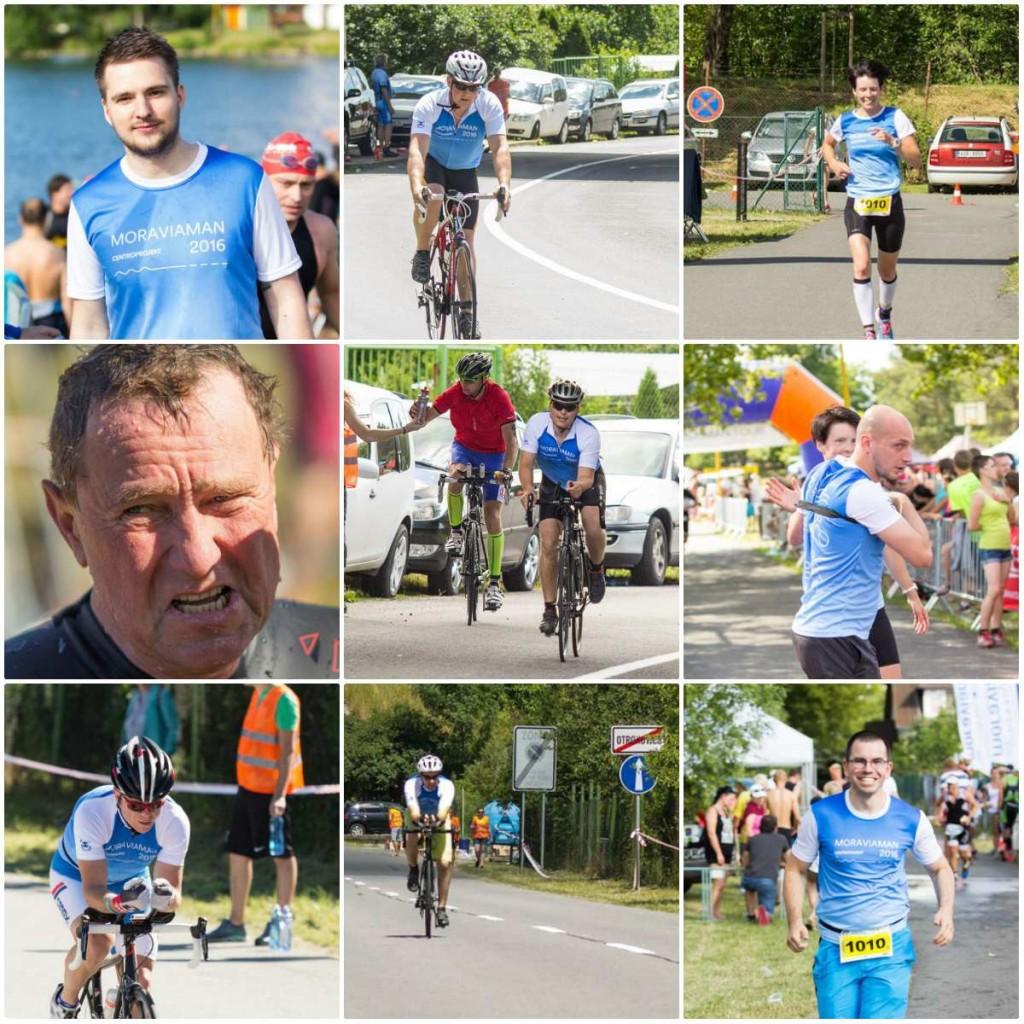 Sportovní tým projektové kanceláře Centroprojekt se zúčastnil triatlonu Moraviaman v Otrokovicích