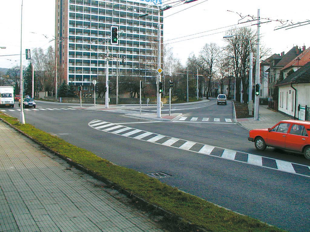 Projekt dopravní stavby - křižovatka ulic Sokolská a 2. května ve Zlíně