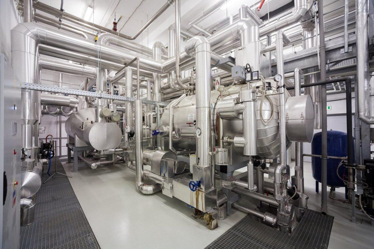 Energetické centrum vědeckovýzkumného areálu BIOCEV ve Vestci u Prahy
