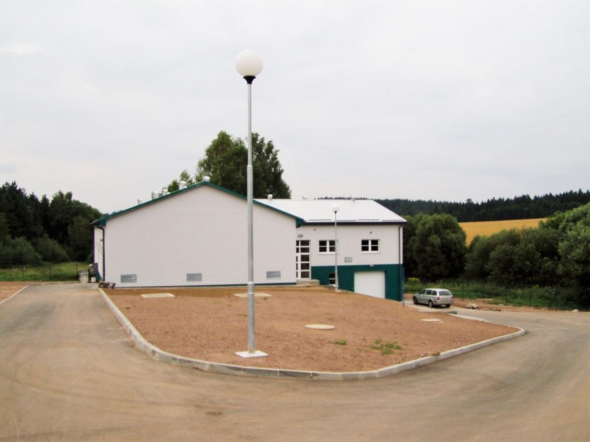 Čistírna odpadních vod v obci Bohumil