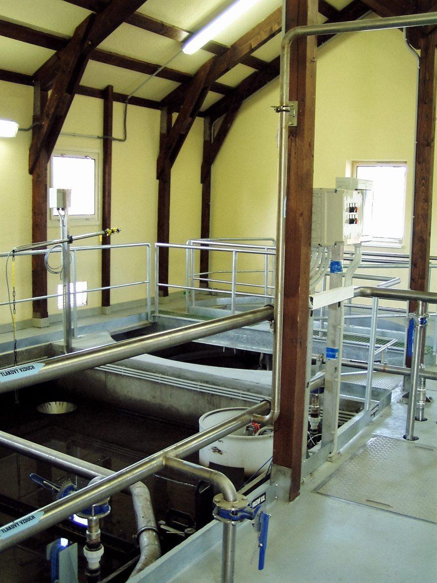 Projekt čistírny odpadních vod v Ježově