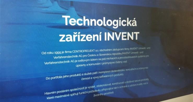 Nabídka technologických zařízení Invent pro vodohospodářské stavby