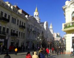 """""""Ruská"""" ulice ve čtyřmilionovém městě Harbin"""