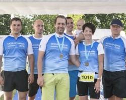 Triatlonových závodů Moraviaman 2016 se zúčastnila také štafeta kolegů z Centroprojektu