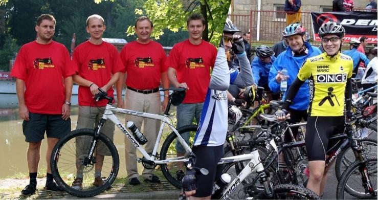 Cyklotým Centroprojektu na startu závodu Rusavská padesátka