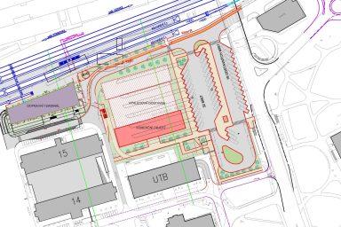 Urbanistická studie dopravního terminálu ve Zlíně