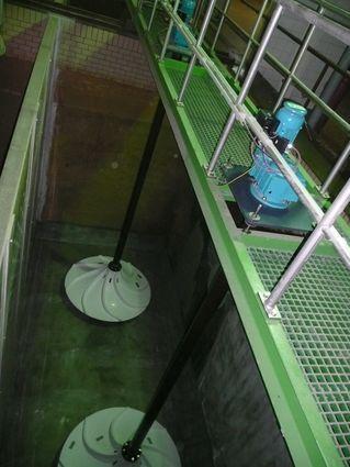 Invent: míchadla na úpravně vod v Bzenci