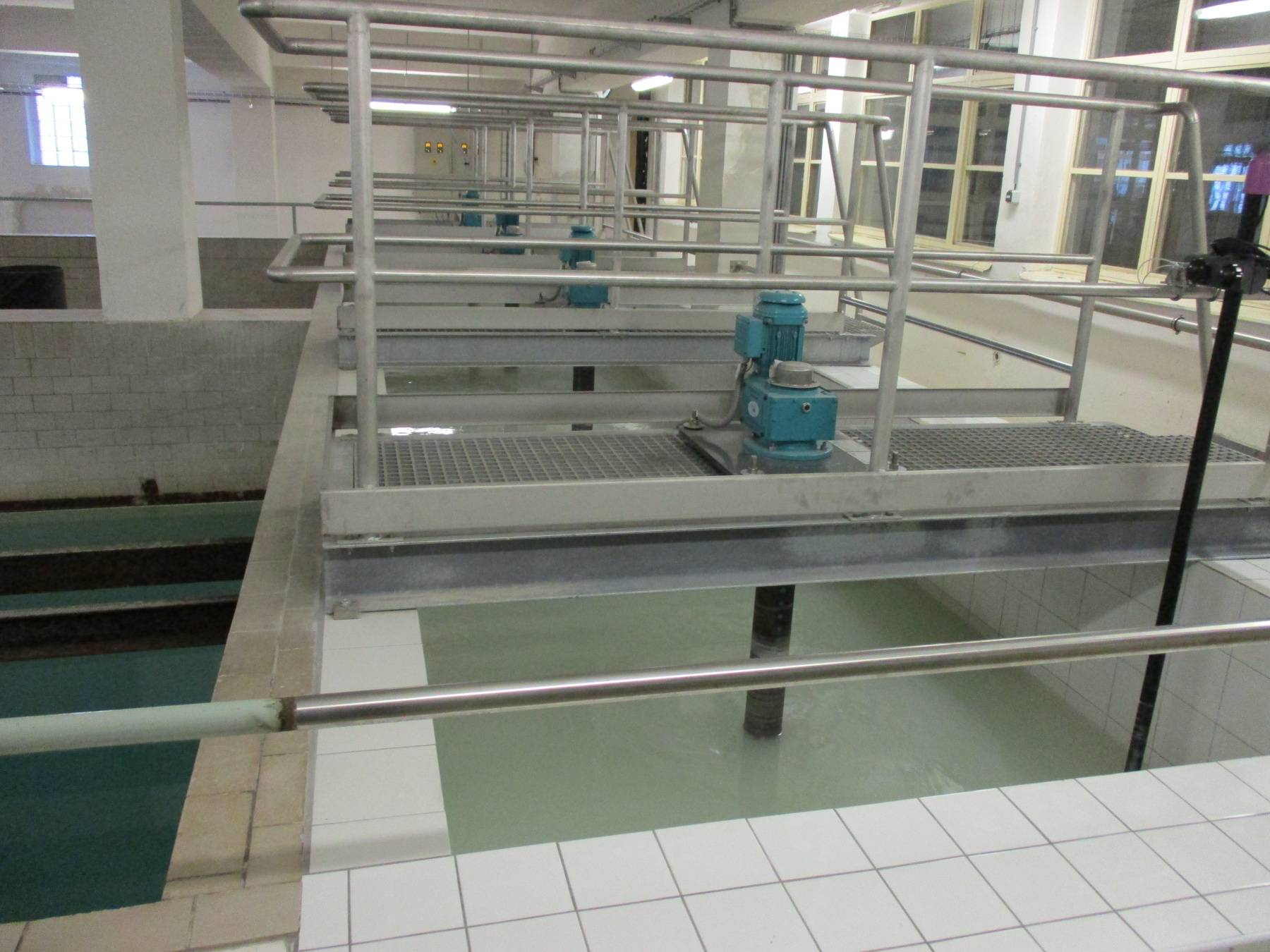 Invent: míchadla na úpravně vody v Podhradí