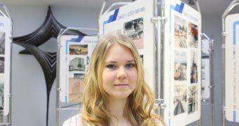 Studentka Monika Bobálová na stáži v projekční kanceláři